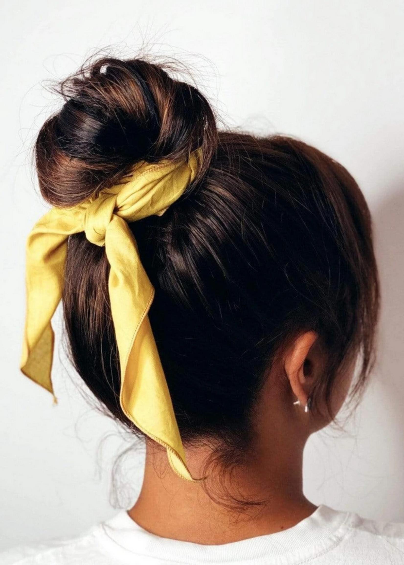 Lana cotton scarf mustard