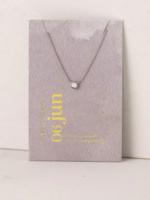 June Kaleidoscope Birthstone Necklace-Silver