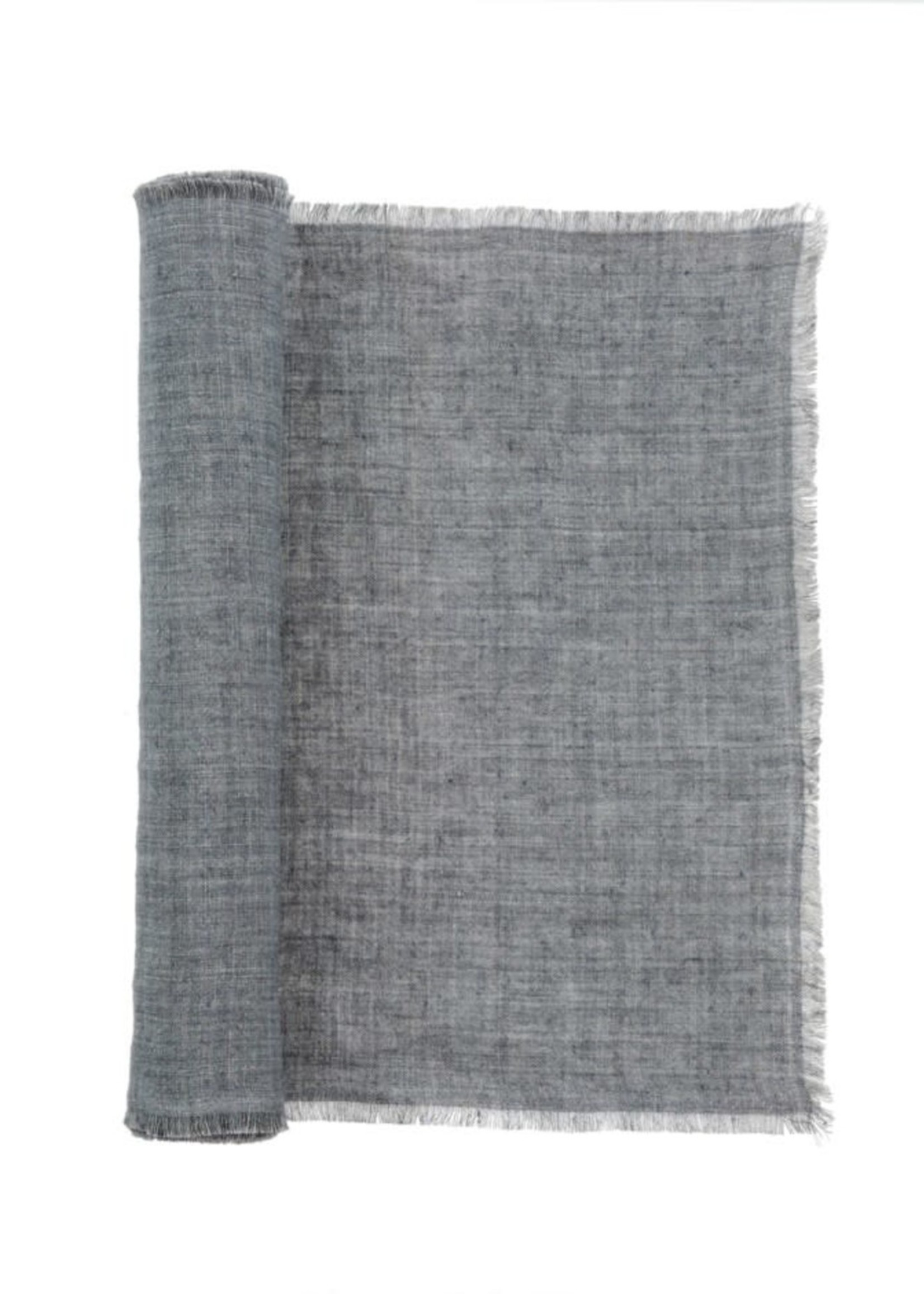 indaba Linen Runner- Steel Grey