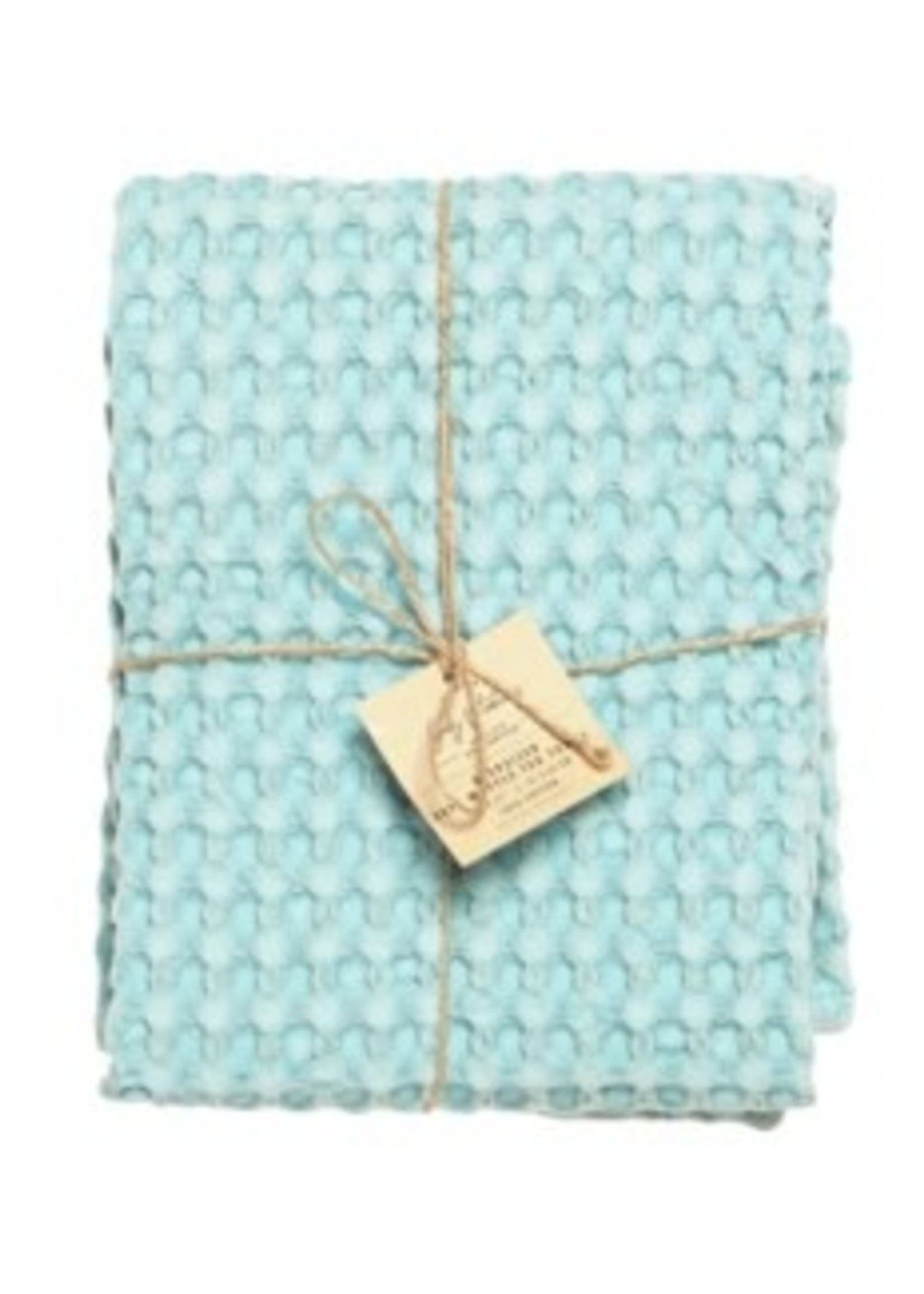 Harman Waffle oversize Tea Towel Aqua