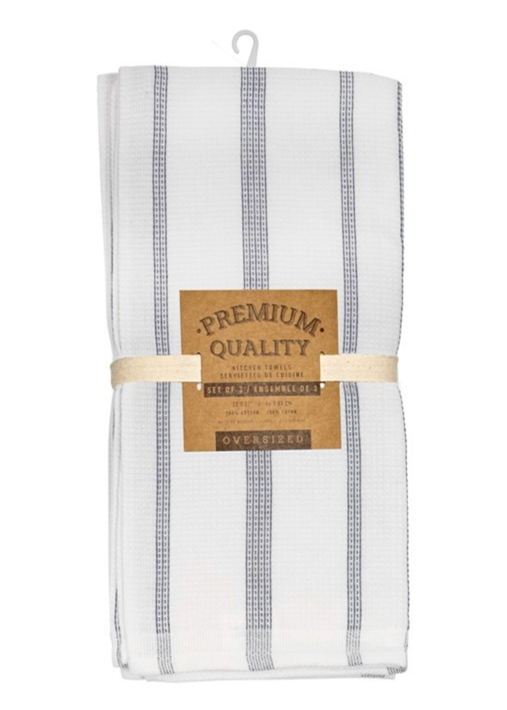 Harman Premium kitchen towel navy pinstripe