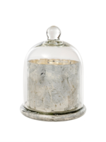 indaba Cloche Candle White - Large