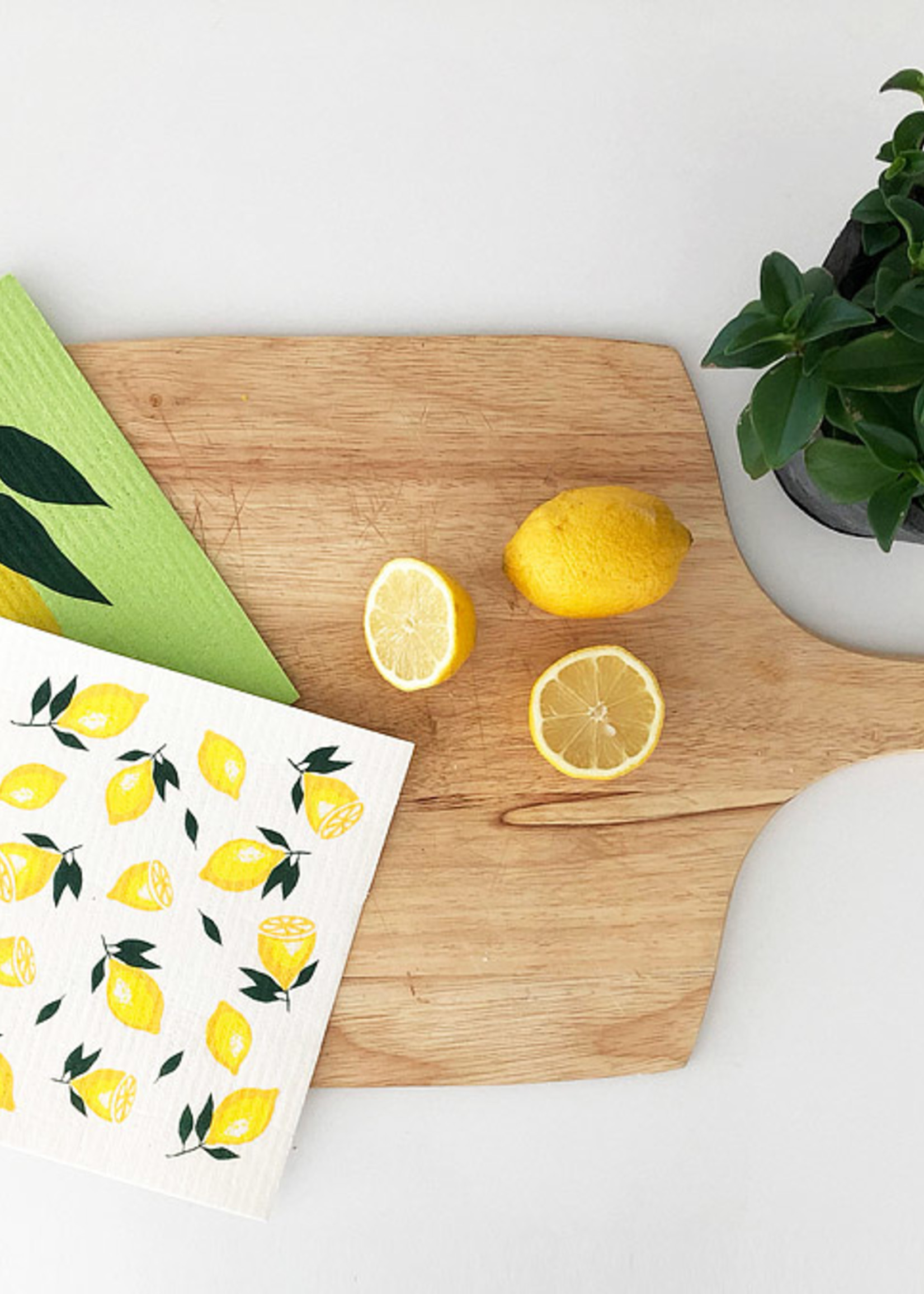 Abbott S/2 Lemon Swedish Dishcloths