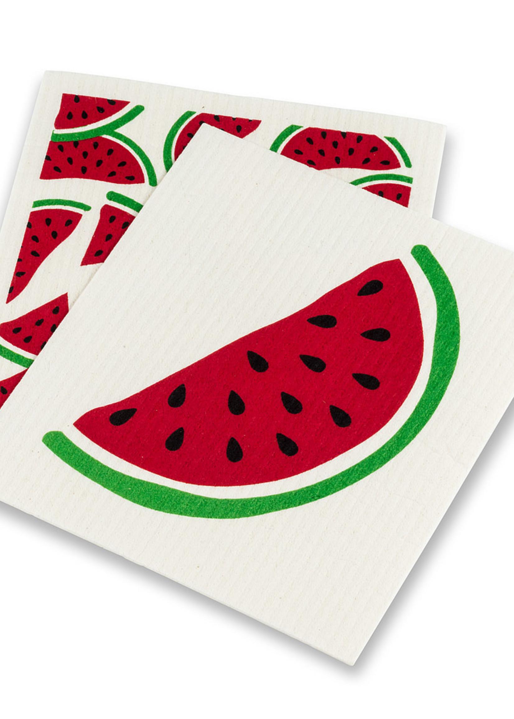Abbott S/2 Watermelon Swedish Dishcloths