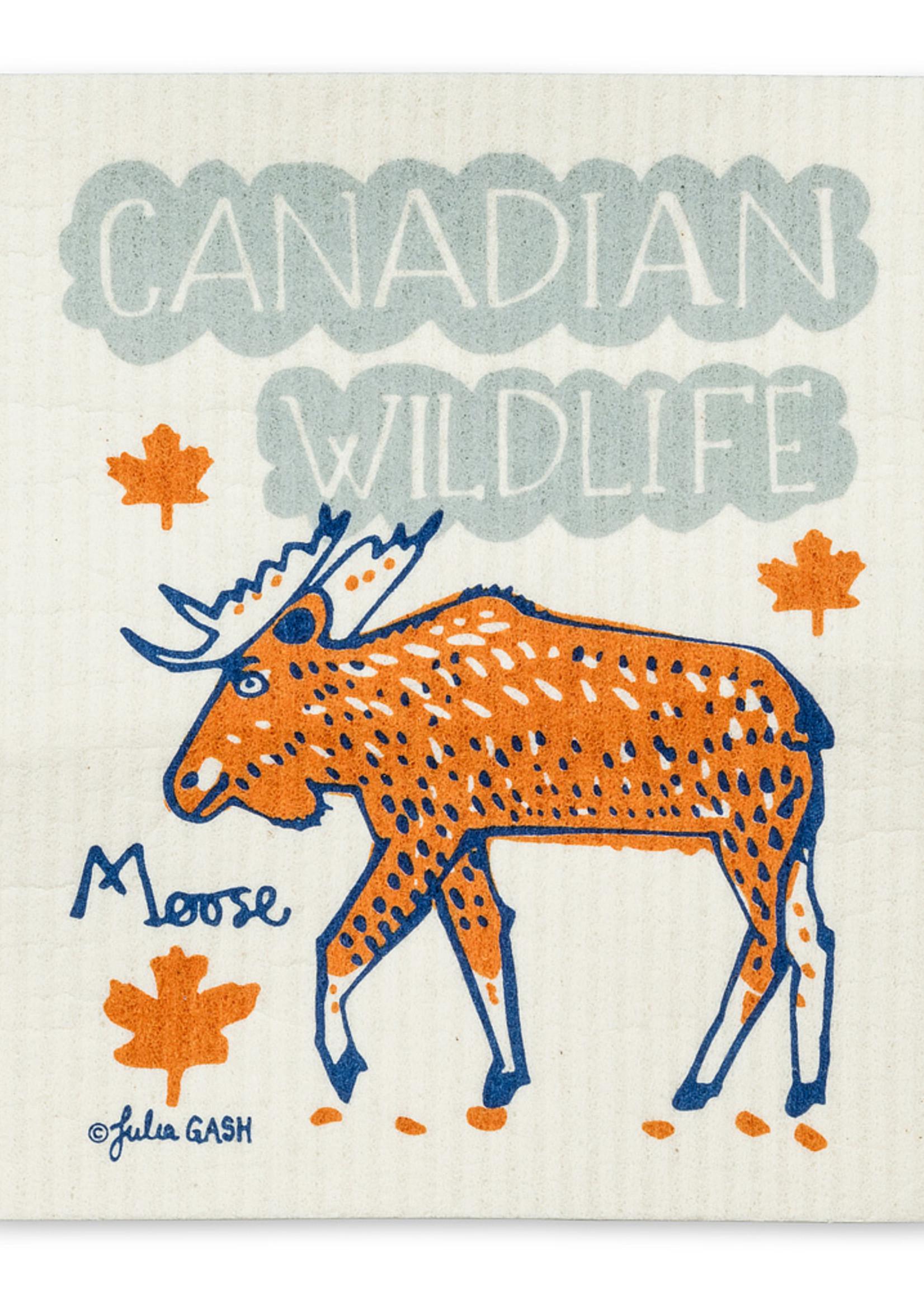 Abbott Canadian Wildlife Swedish Dishcloth