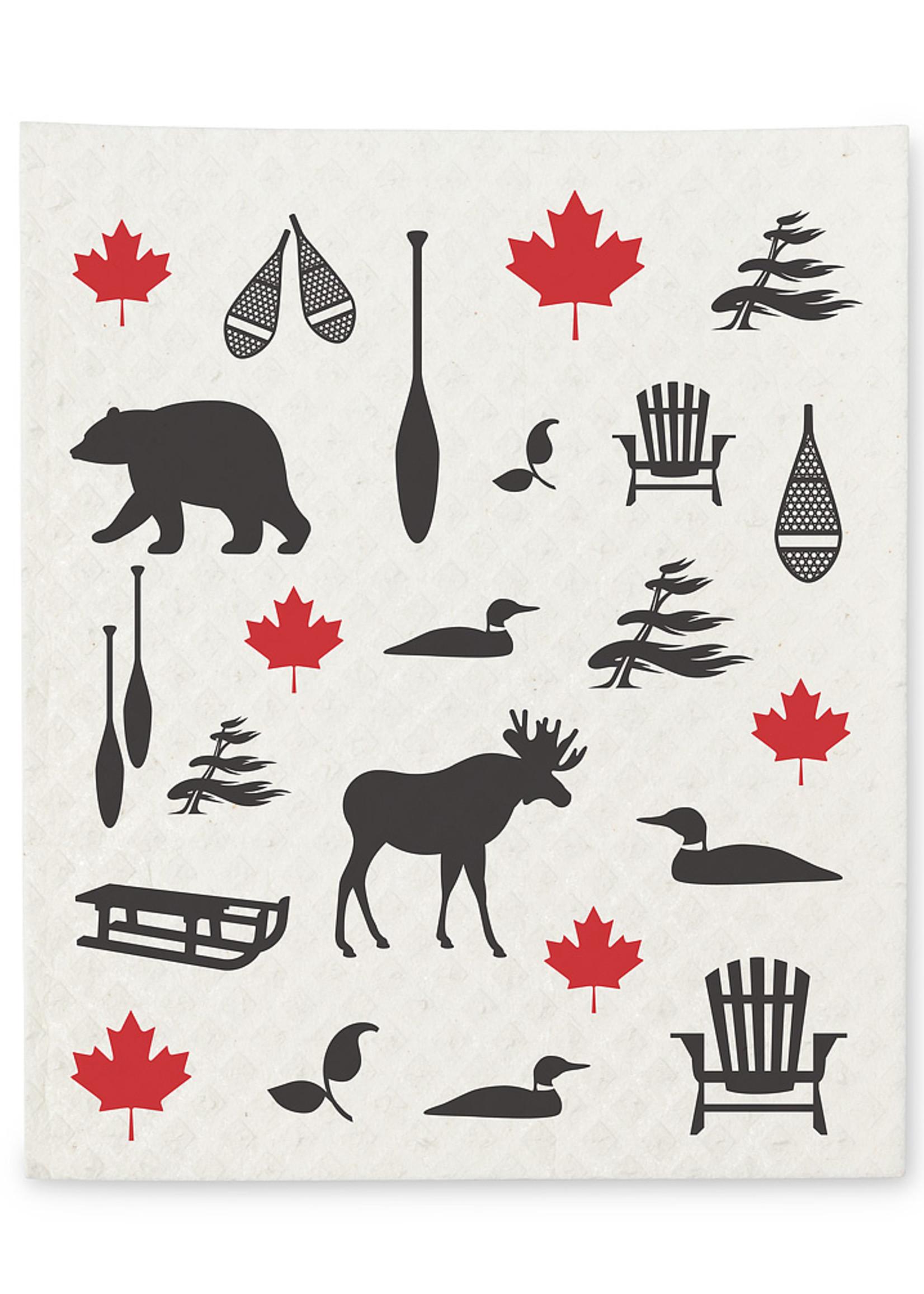 Abbott Canadian Icon dishcloth