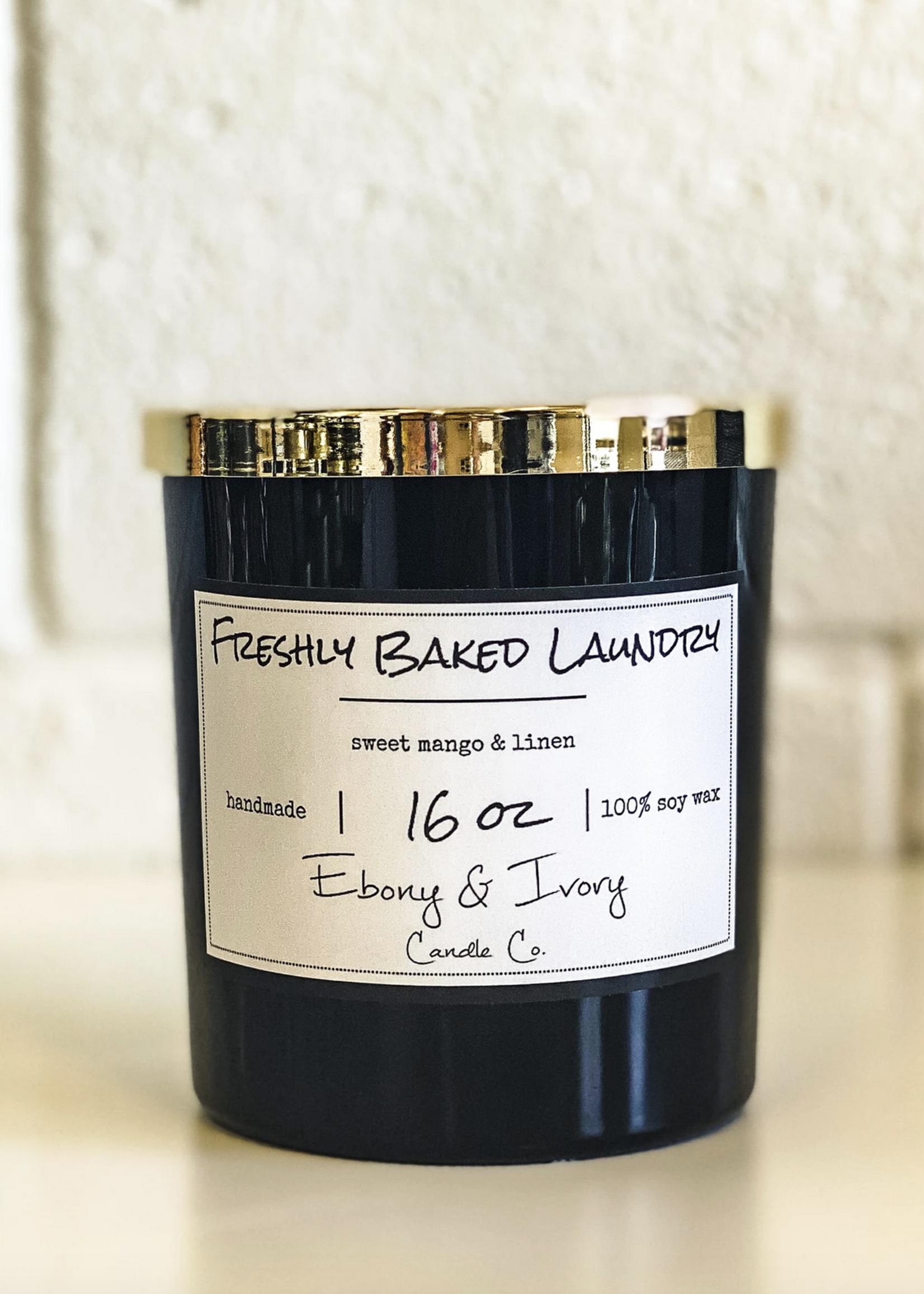 Ebony & Ivory Candle Co. Fresh Baked Laundry-16oz