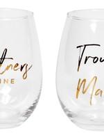 Harman Partners in wine glasses