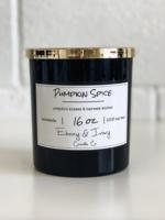 Ebony & Ivory Candle Co. Pumpkin Spice-16 oz