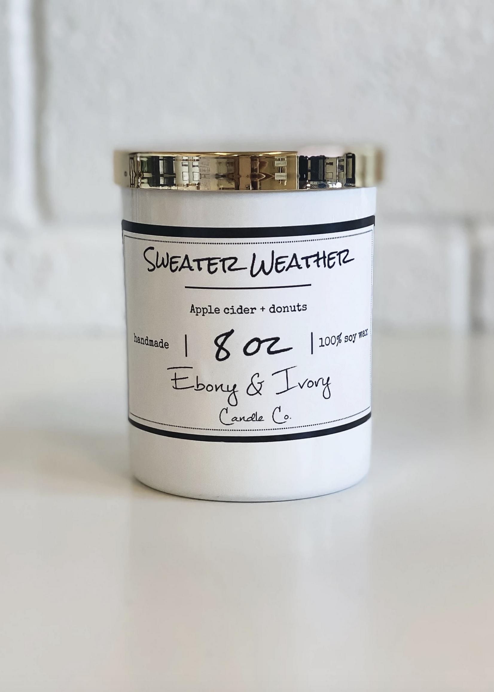 Ebony & Ivory Candle Co. Sweater Weather-  8 oz