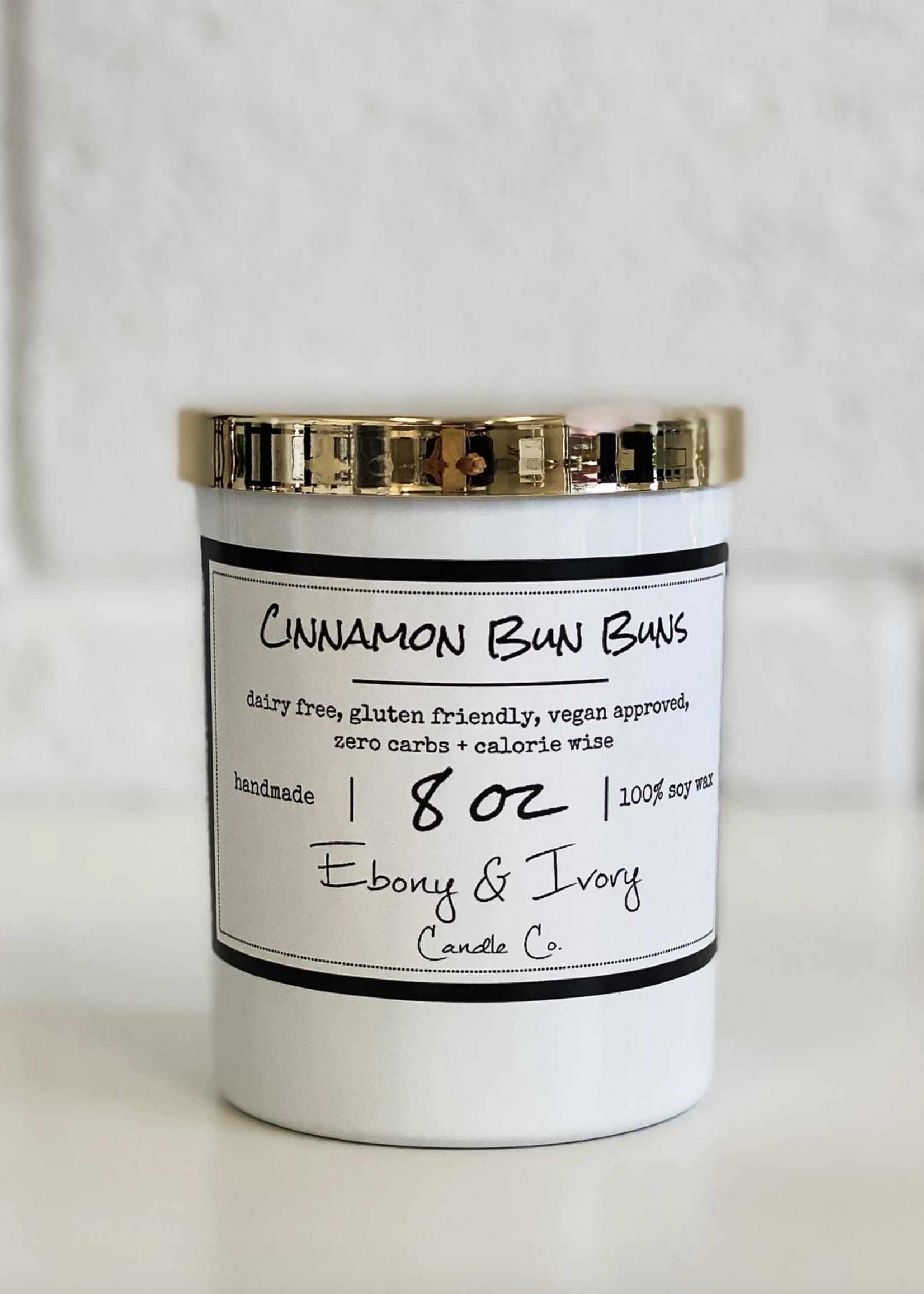 Ebony & Ivory Candle Co. Cinnamon Bun Buns- 8oz