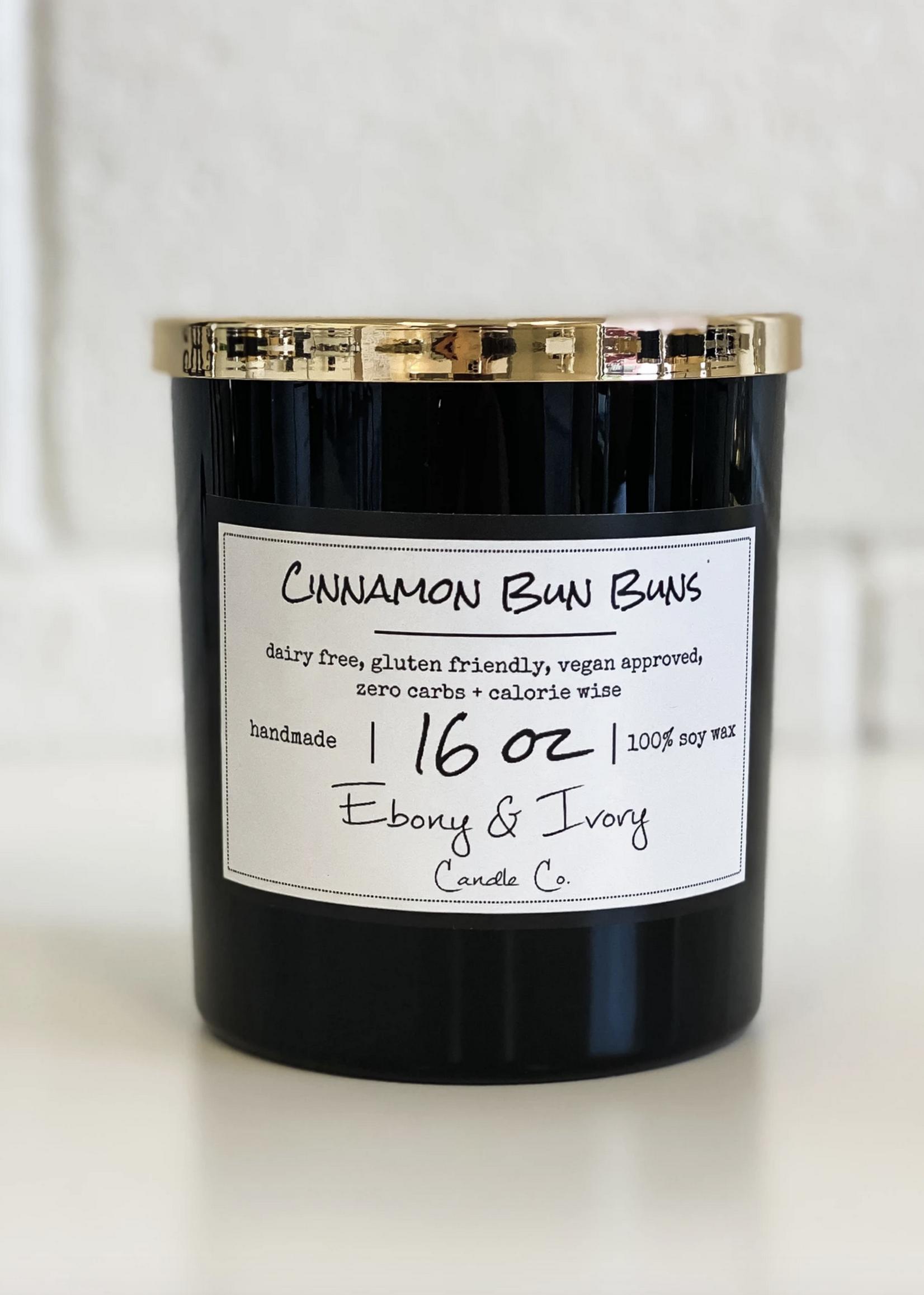 Ebony & Ivory Candle Co. Cinnamon bun bun 16 oz