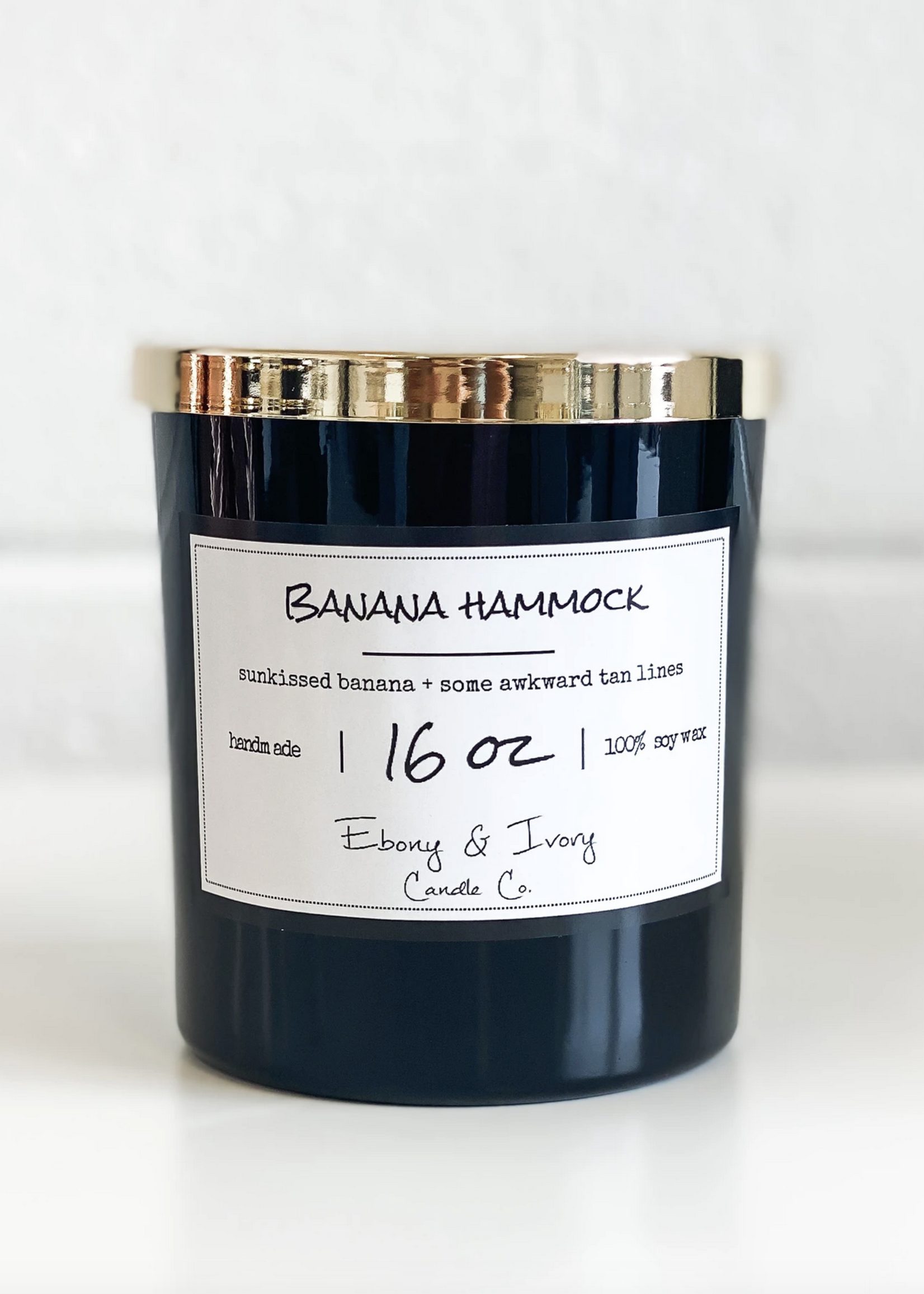 Ebony & Ivory Candle Co. Banana Hammock 16oz