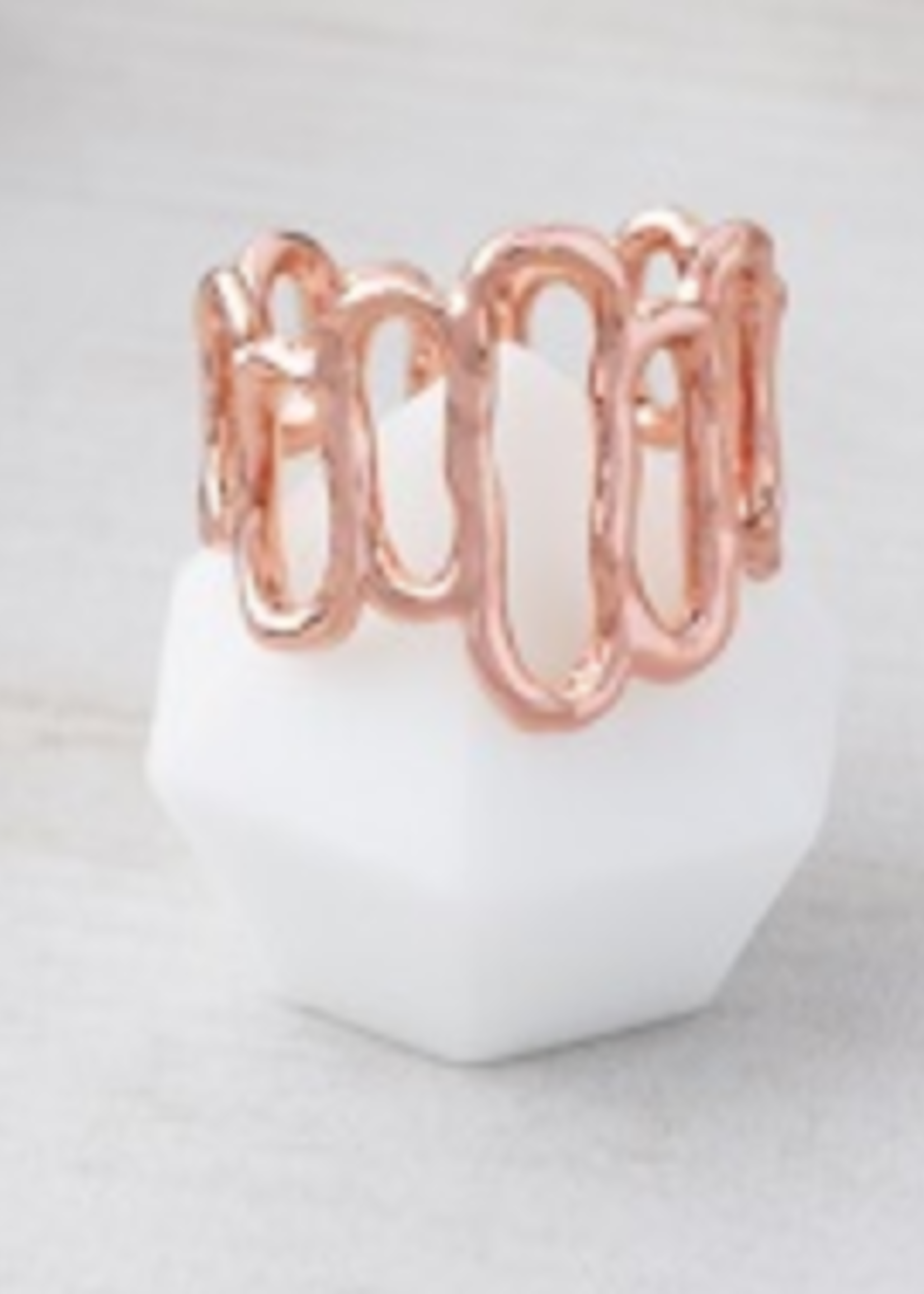 Glee Jewelry Array Ring Rose Gold