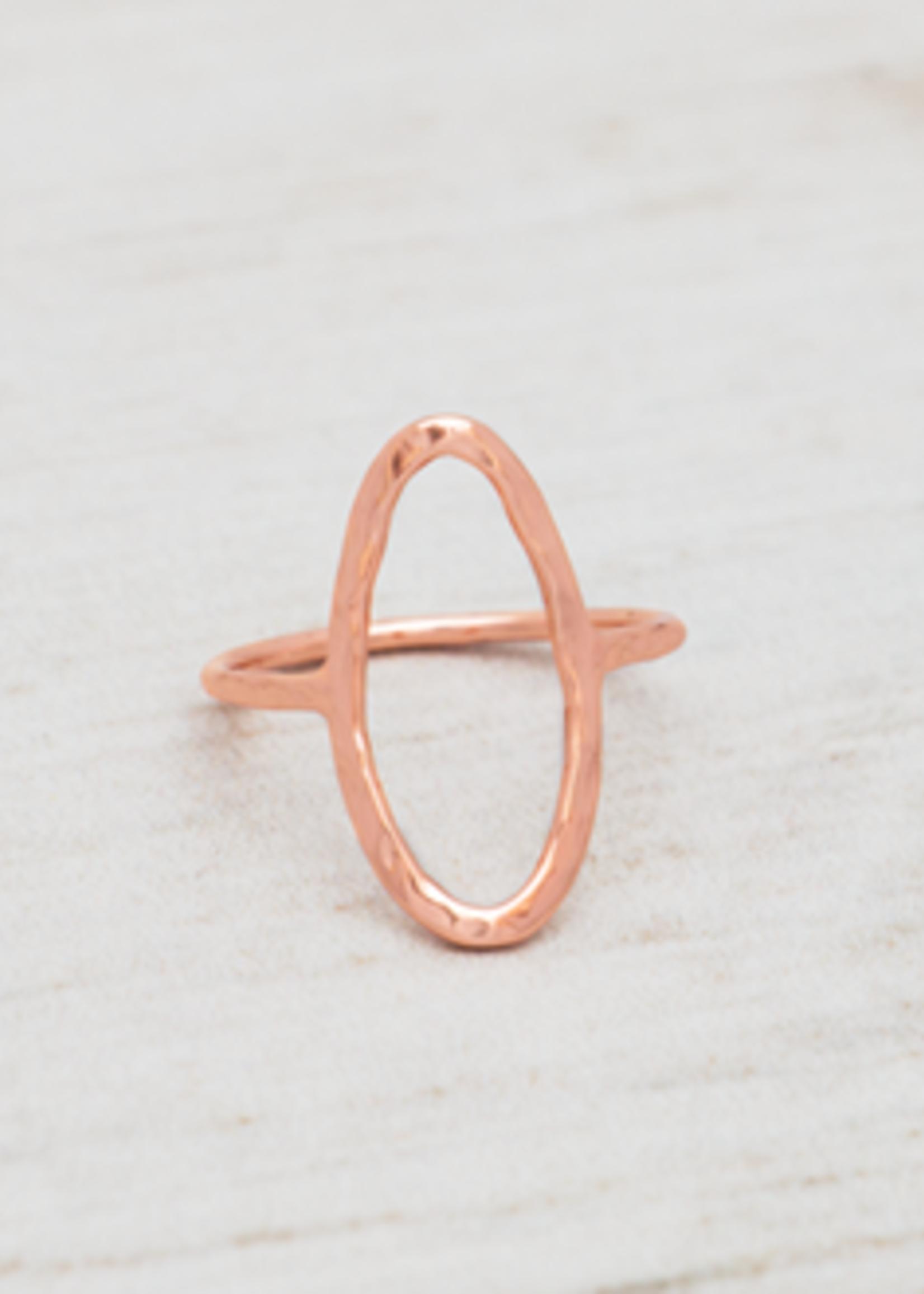 Glee Jewelry Rama Ring Rose Gold