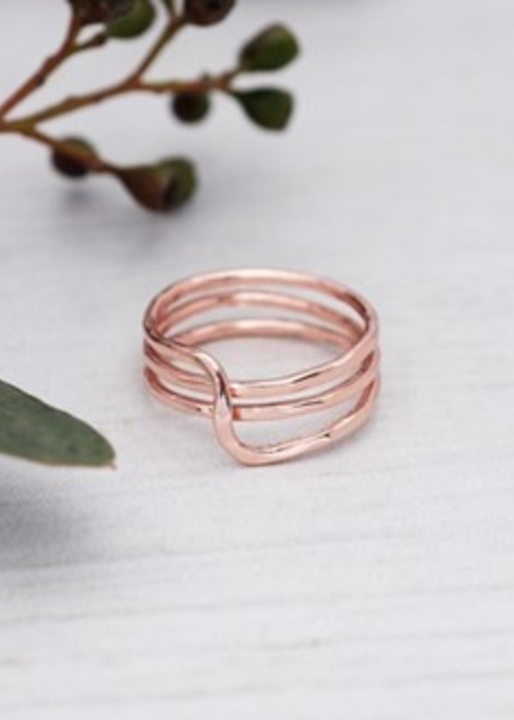 Glee Jewelry Witty Ring Rose Gold