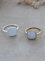Glee Jewelry A La Mode Blue Agate Silver Ring