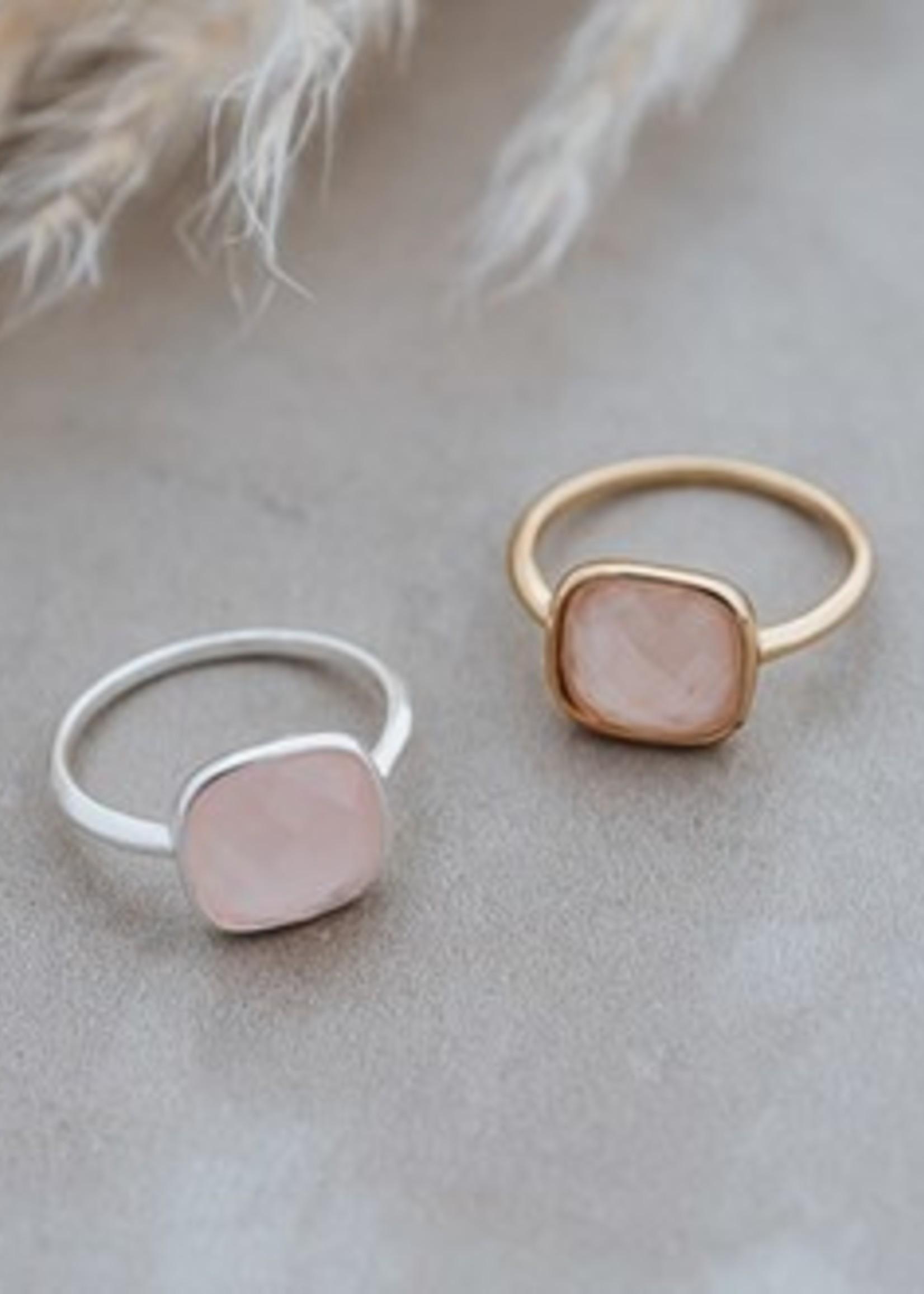 Glee Jewelry A La Mode Ring Rose Quartz Rose Gold