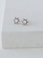 Starlit Stud Earrings White Opal