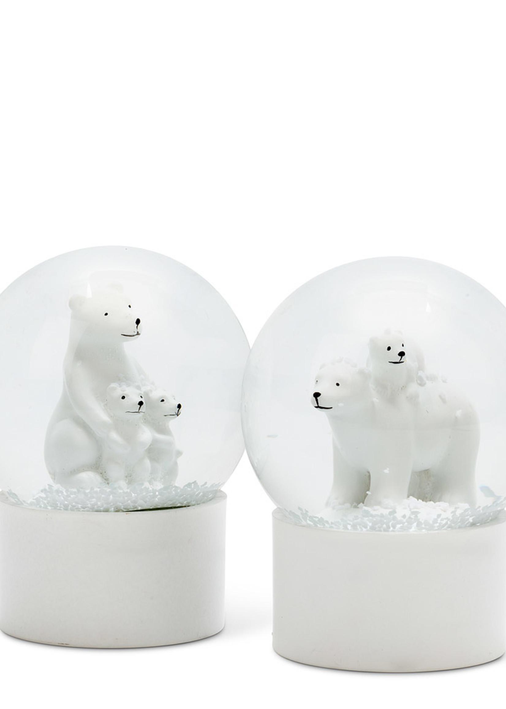 Abbott Small Polar Bear Snowglobe