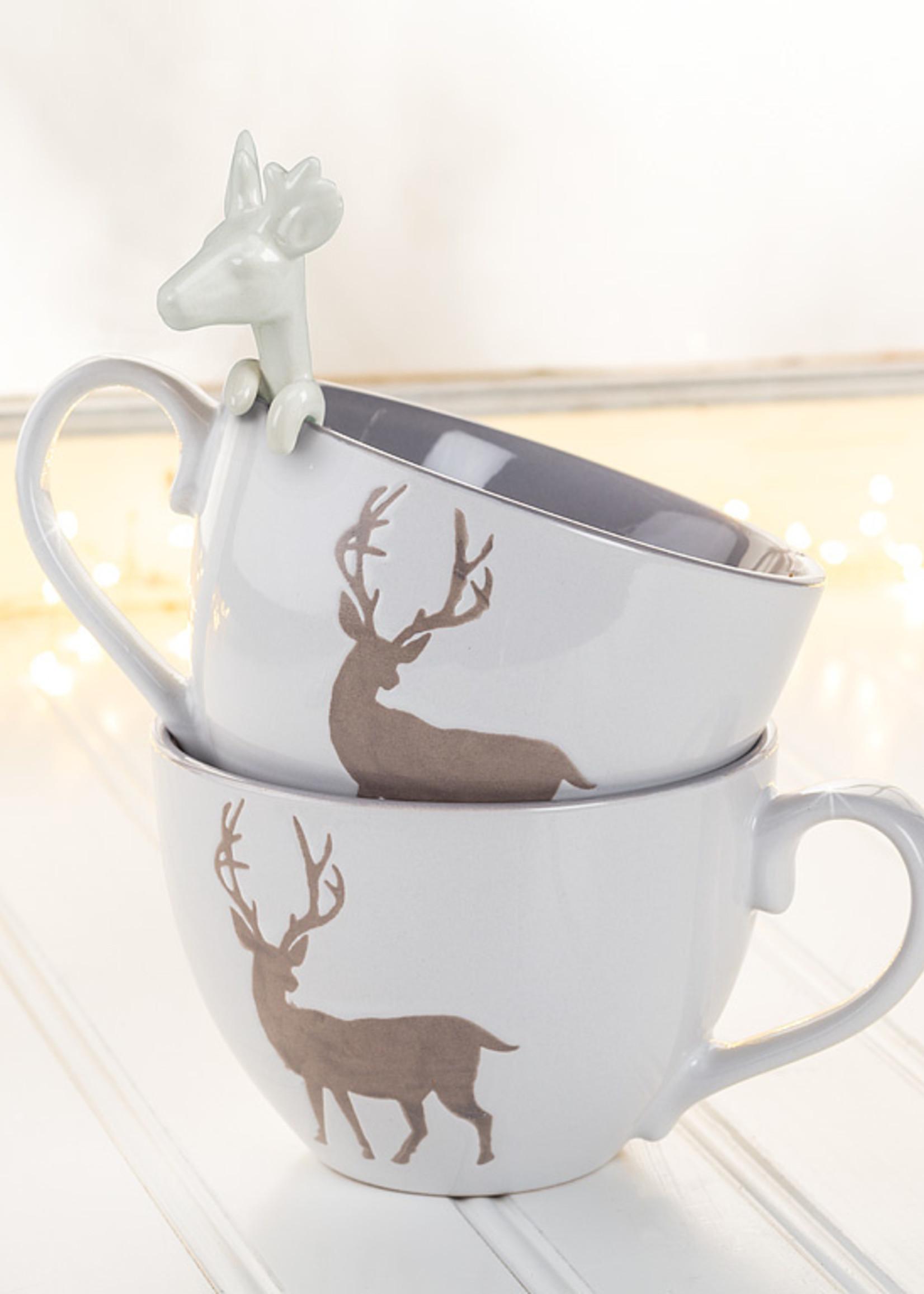 Abbott Reindeer Spoon white