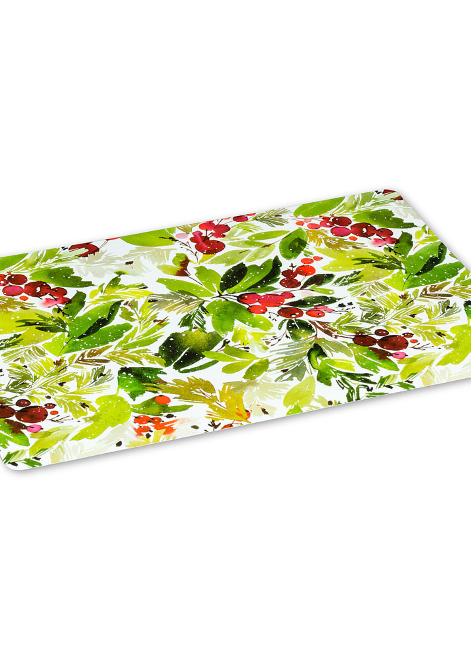 Abbott Cranberry and Greenery Placemat