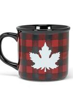 Abbott Black Check Leaf Mug