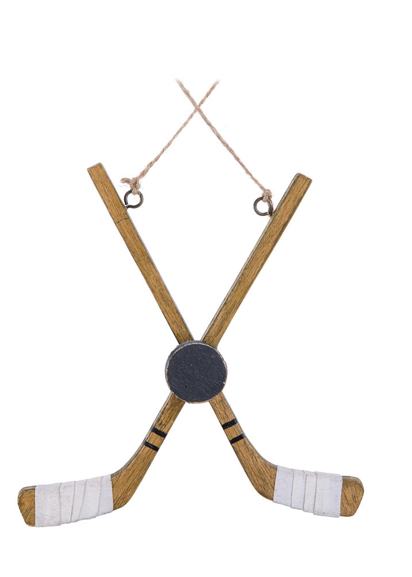 Abbott Hockey Stick/Puck Ornament