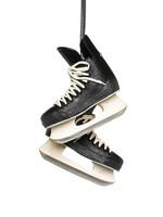 "Abbott Pair Black Hockey Skates-2.5""H"