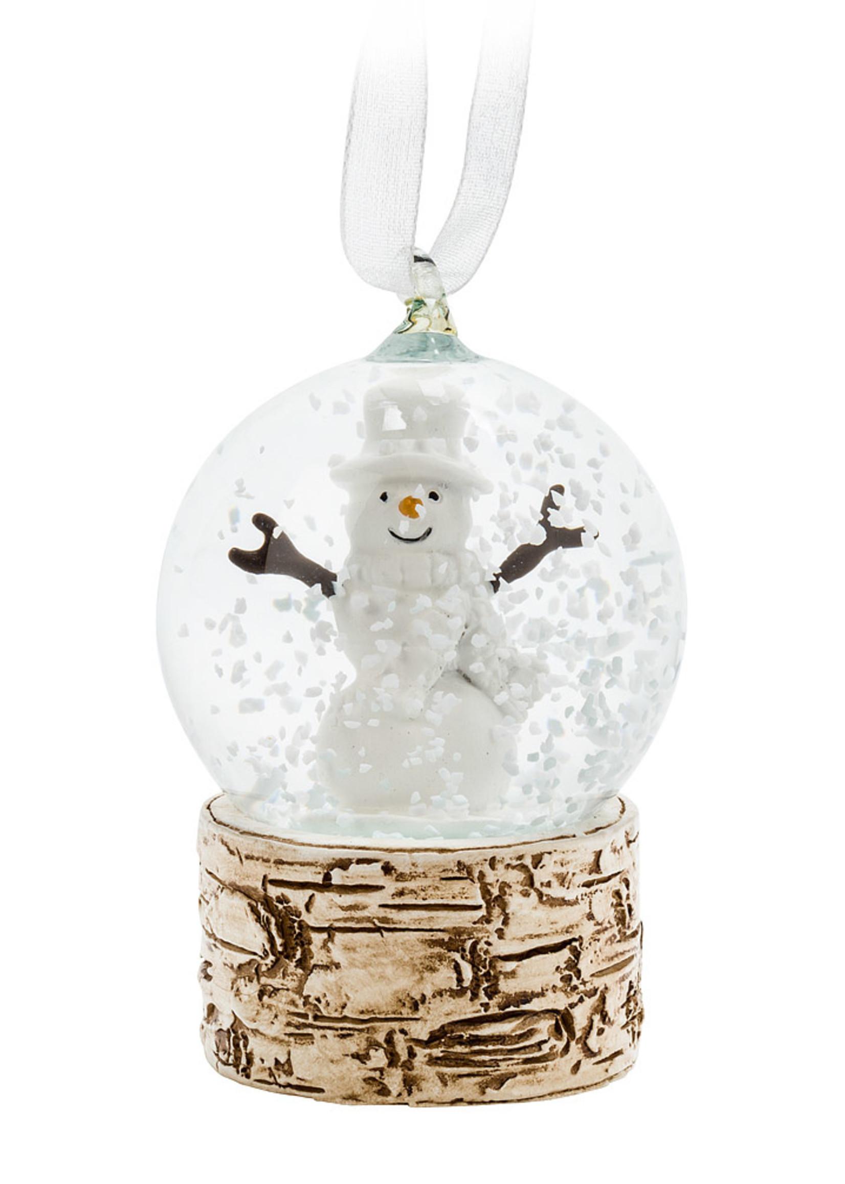 Abbott Small Snowman Snowglobe Ornament