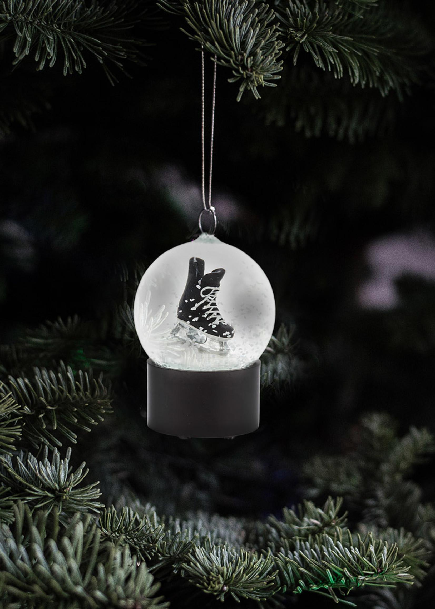 Abbott Small Mens Skate Snowglobe Ornament