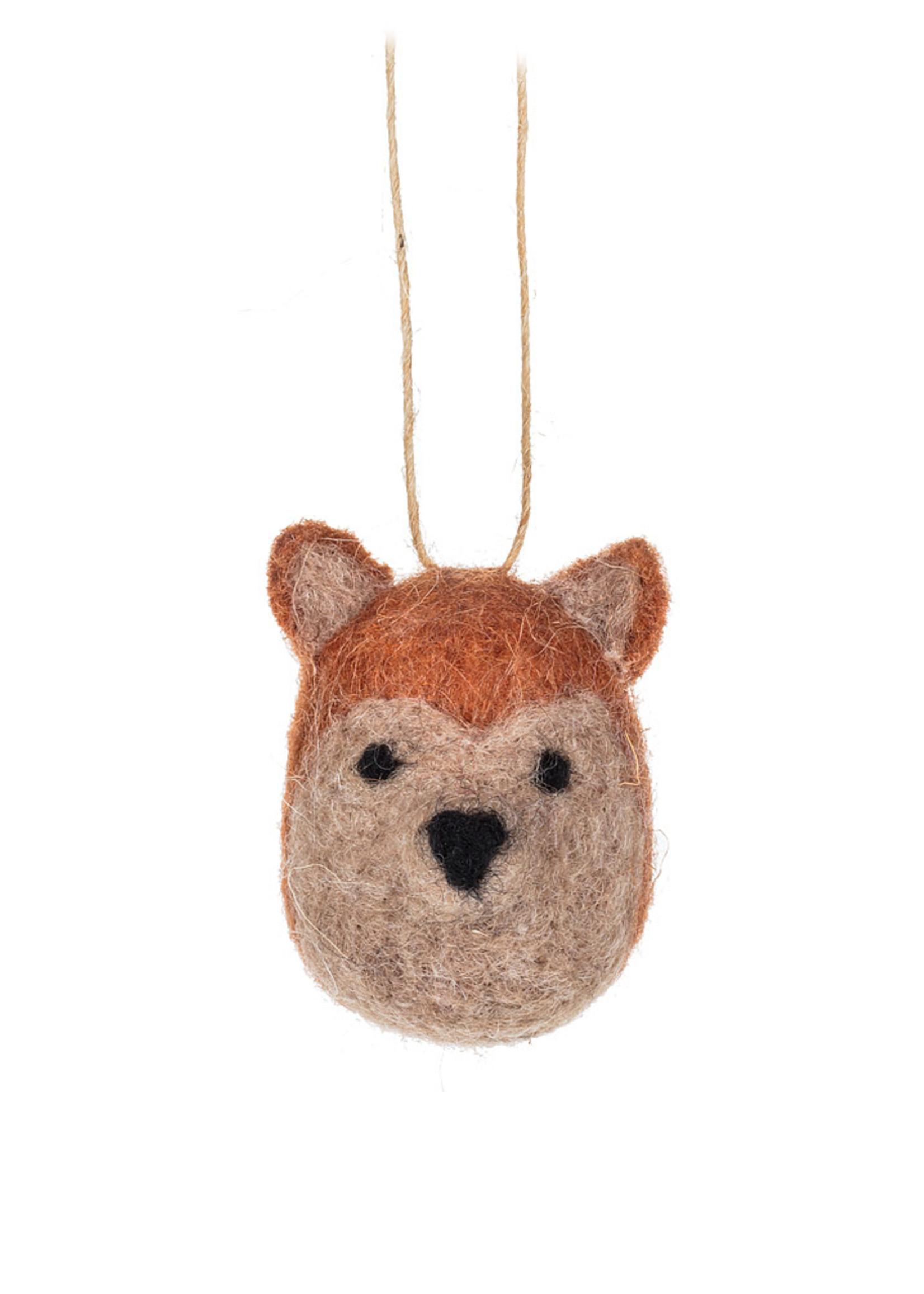 Abbott Small Wool Fox Orniment