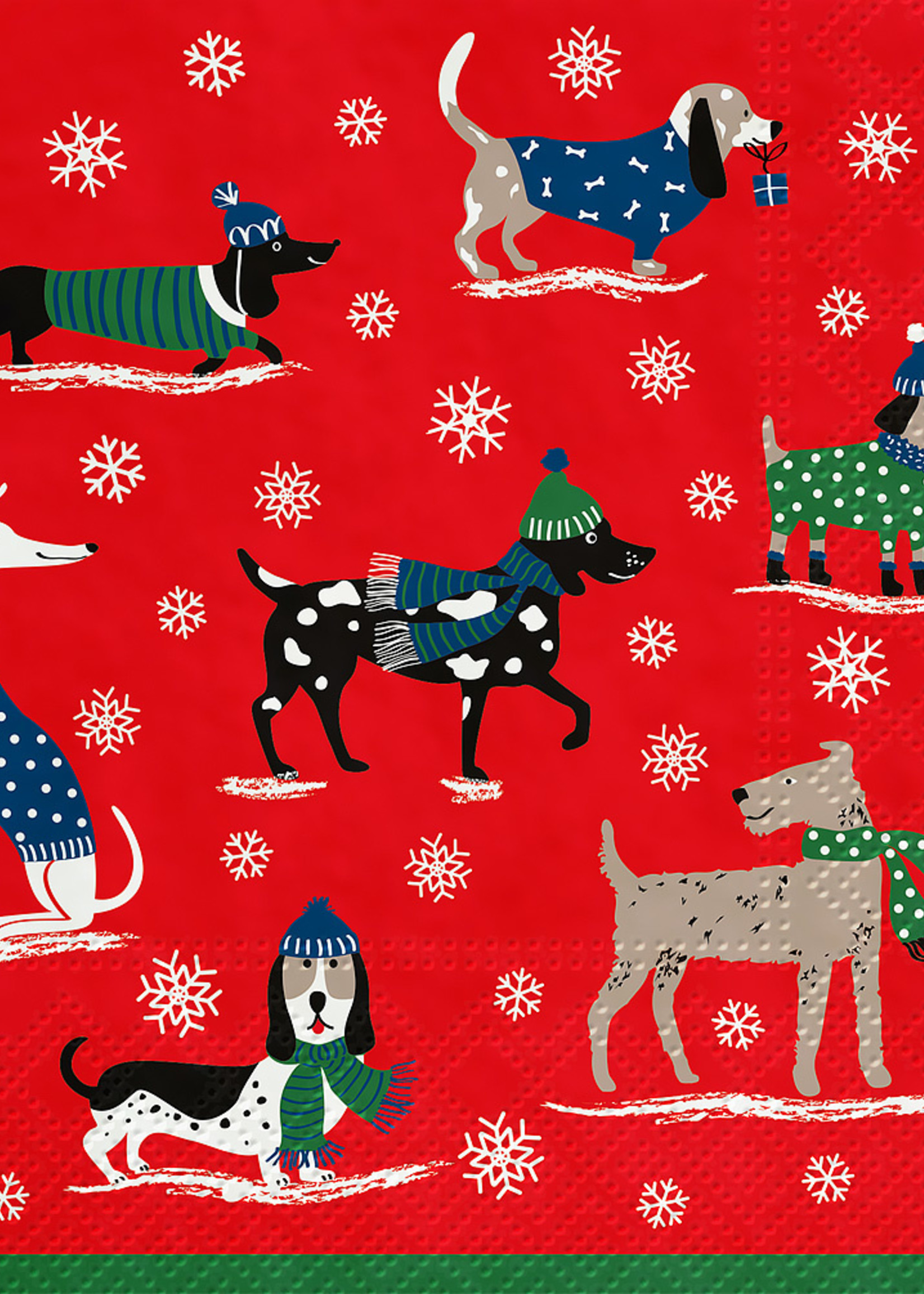 Abbott Luncheon Napkin ( Winter Dogs)