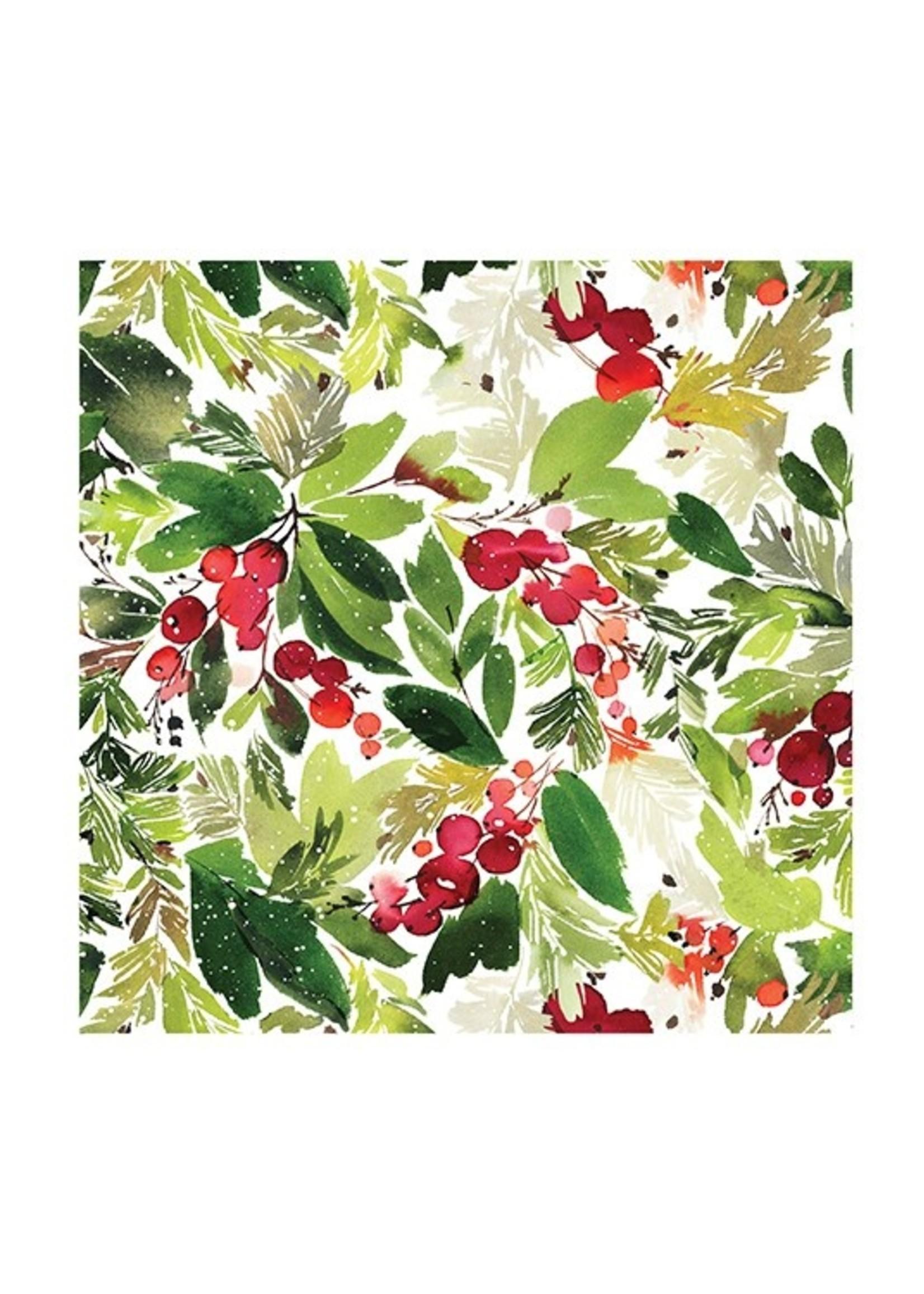 Mistletoe luncheon napkin