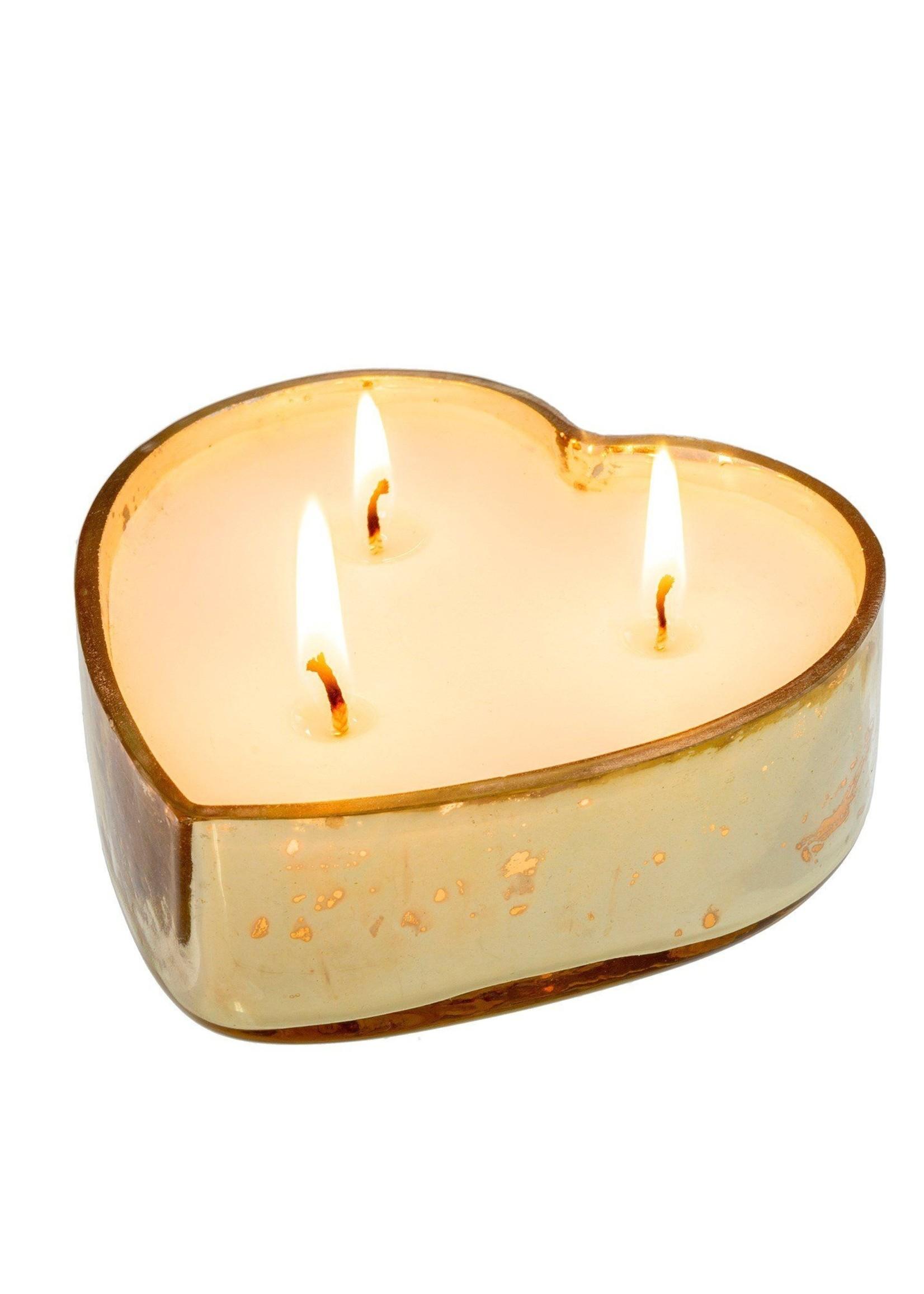 indaba Sweetheart Candle L, Gold - Orange Blossom