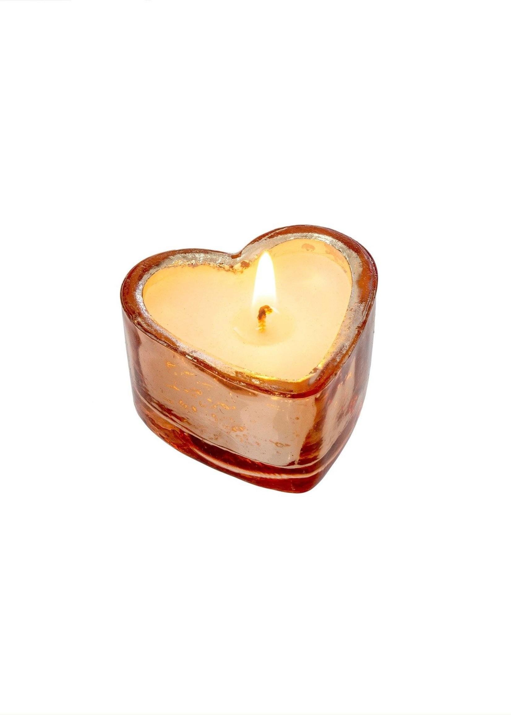 indaba Sweetheart Candle S, Silver - Orange Blossom