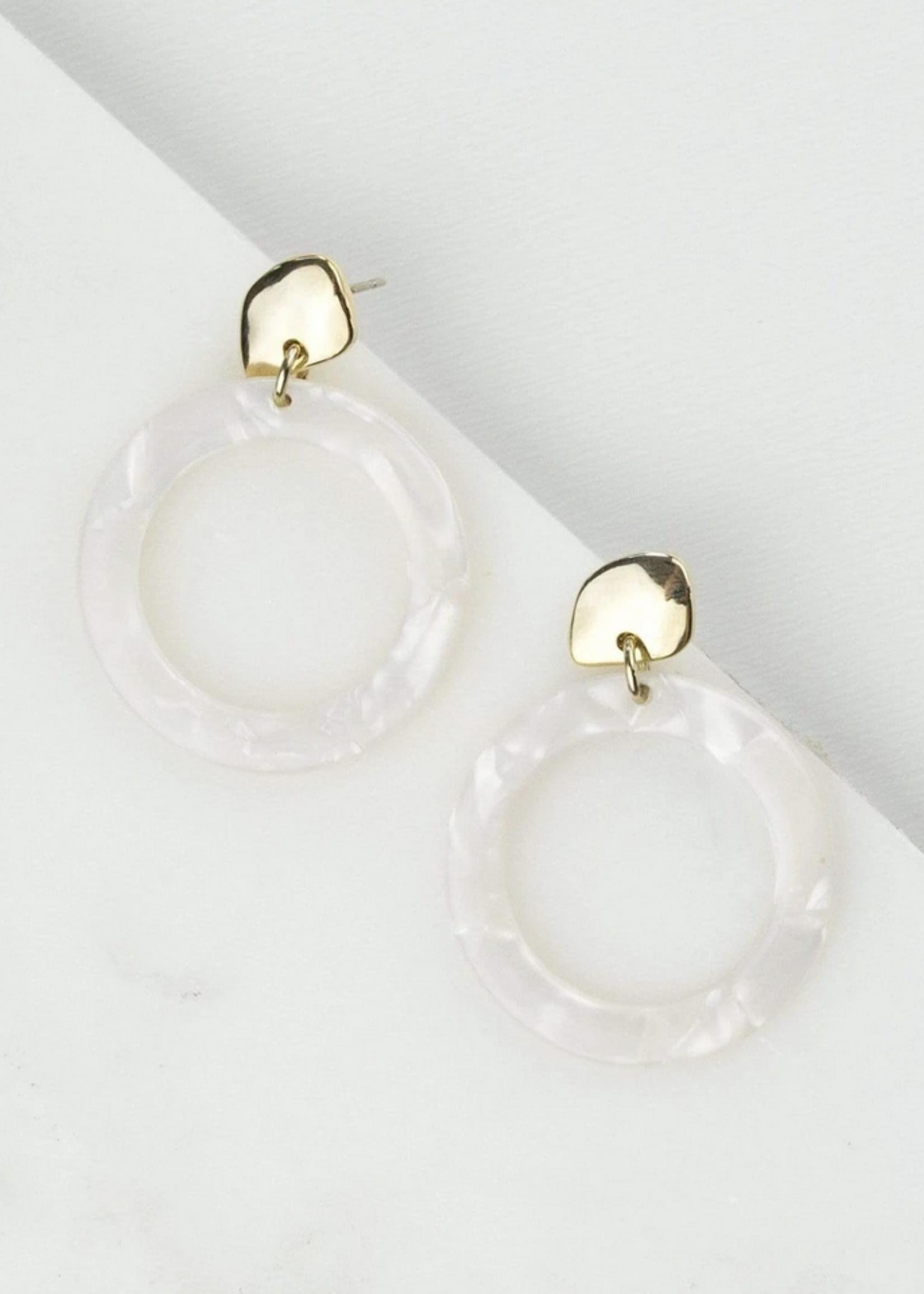Odessa Hoop Earrings White