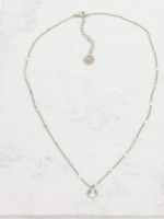 Everly Circle Necklace Silver