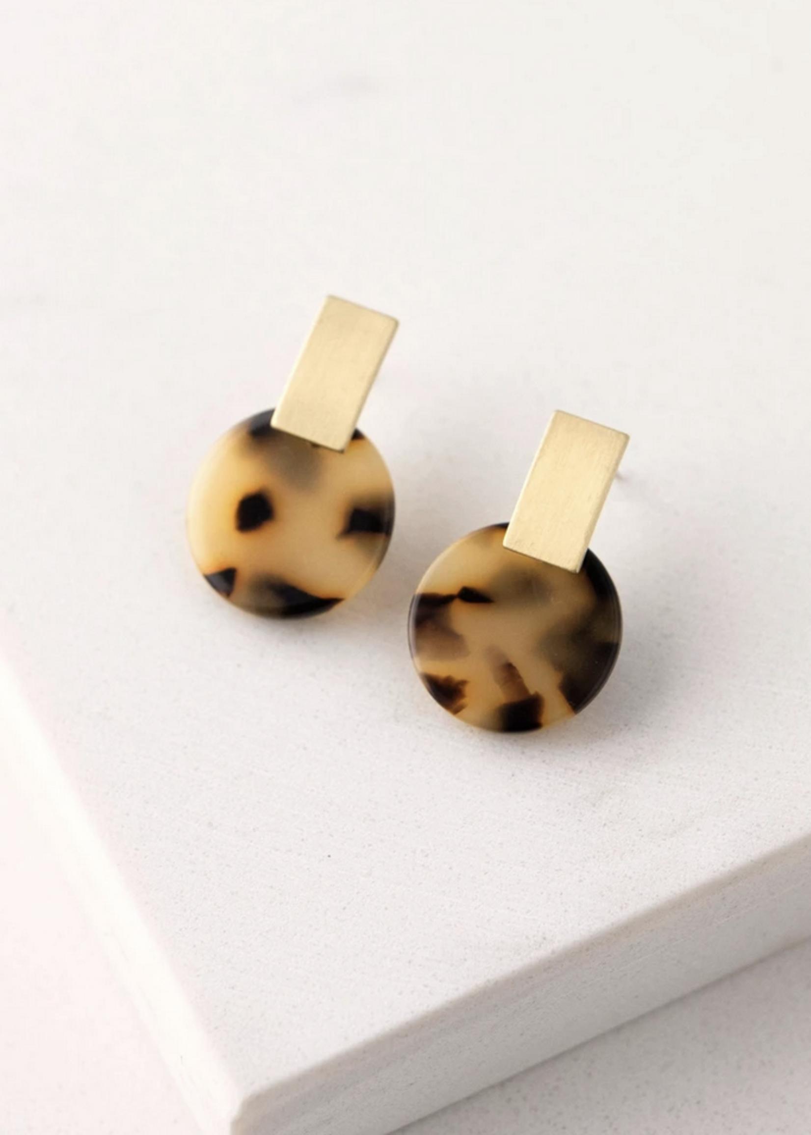 Jupiter Drop Earrings Tortiose