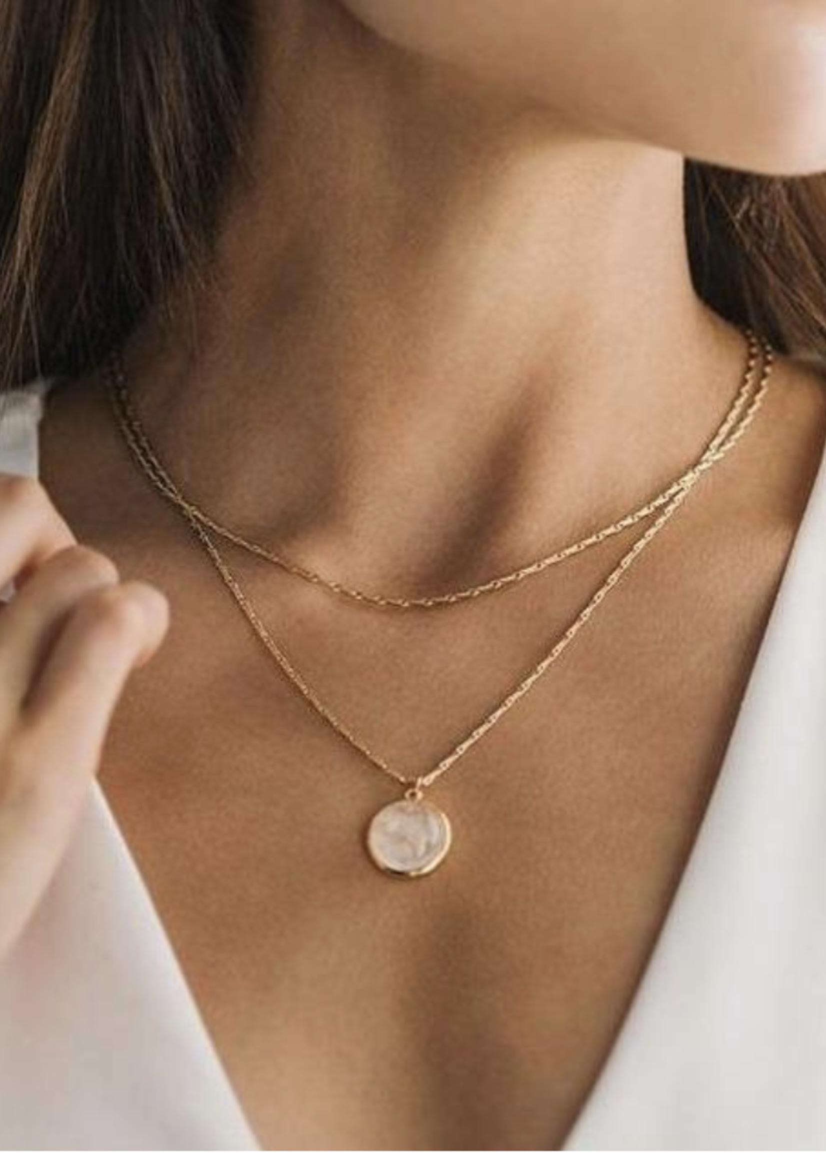 Aura Double Necklace White
