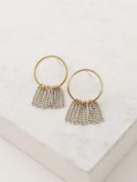 Olympia Fringe Earring  White