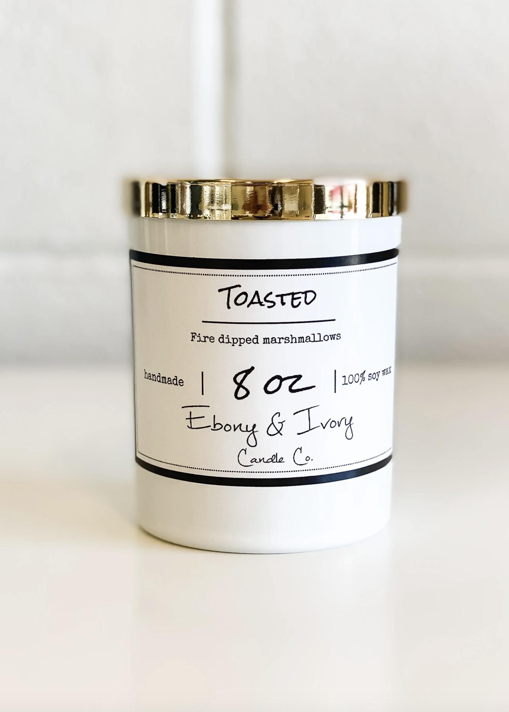 Ebony & Ivory Candle Co. Toasted 8oz