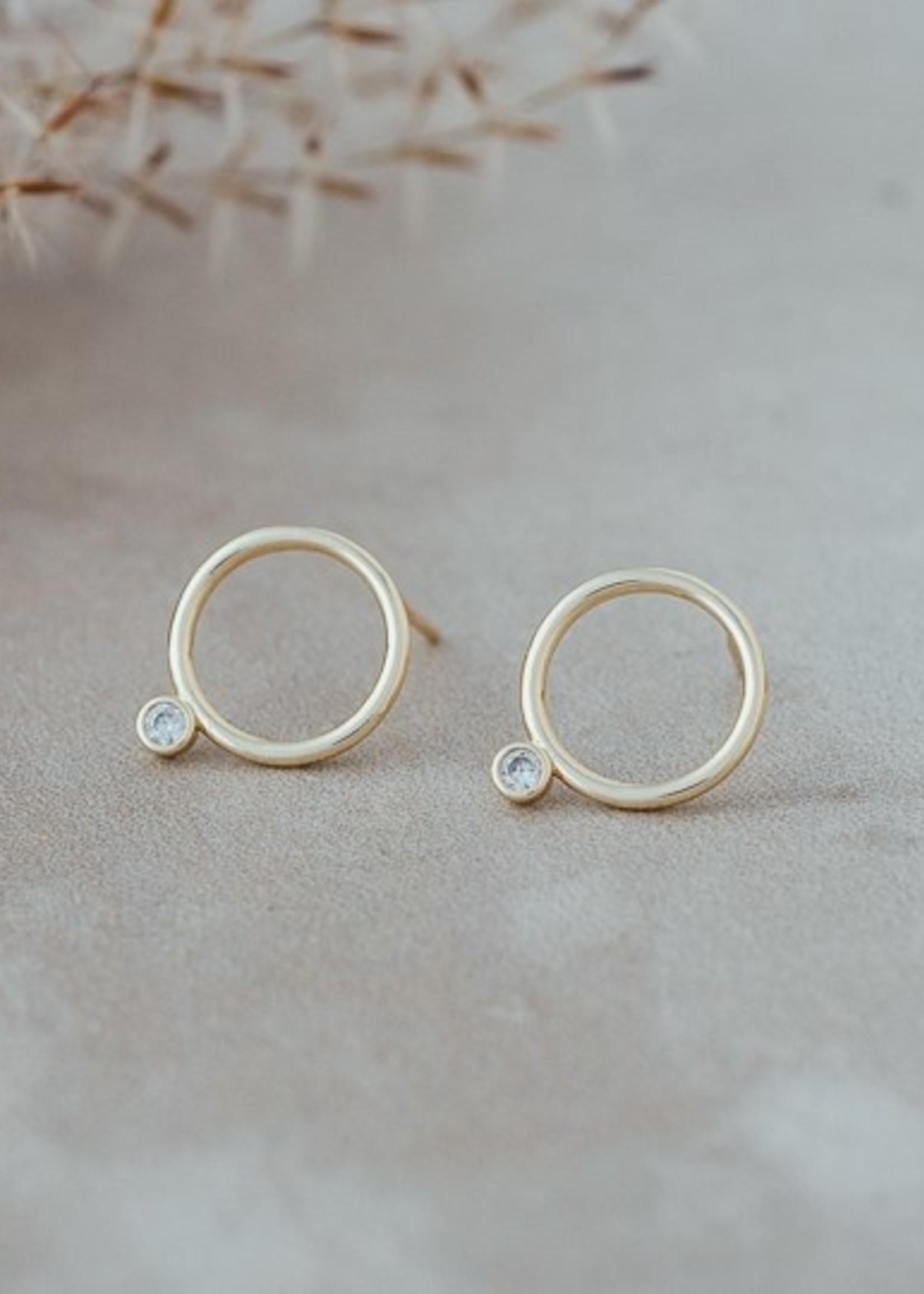 Glee Jewelry Teagen stud gold