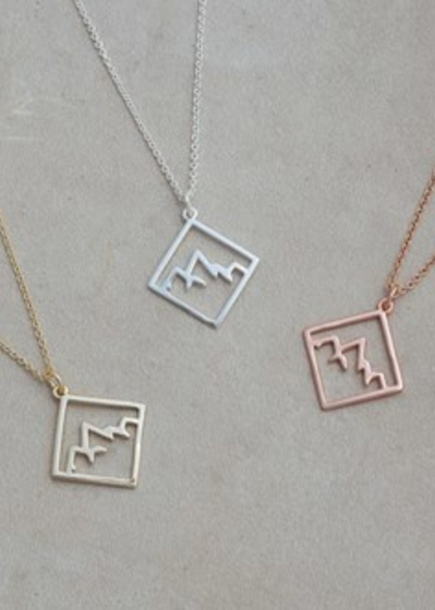Glee Jewelry Ridge Necklace Gold