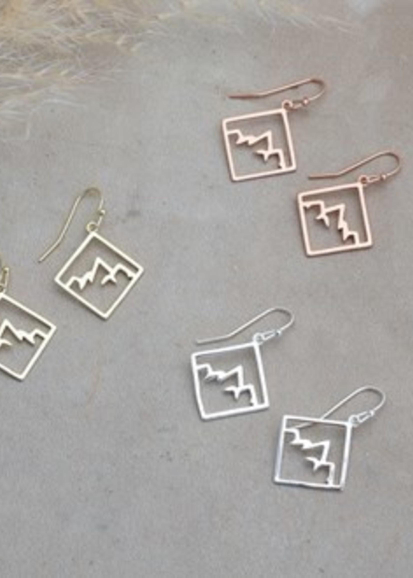 Glee Jewelry Ridge Earring Rose Gold