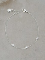Glee Jewelry Eve Bracelet Clear Silver