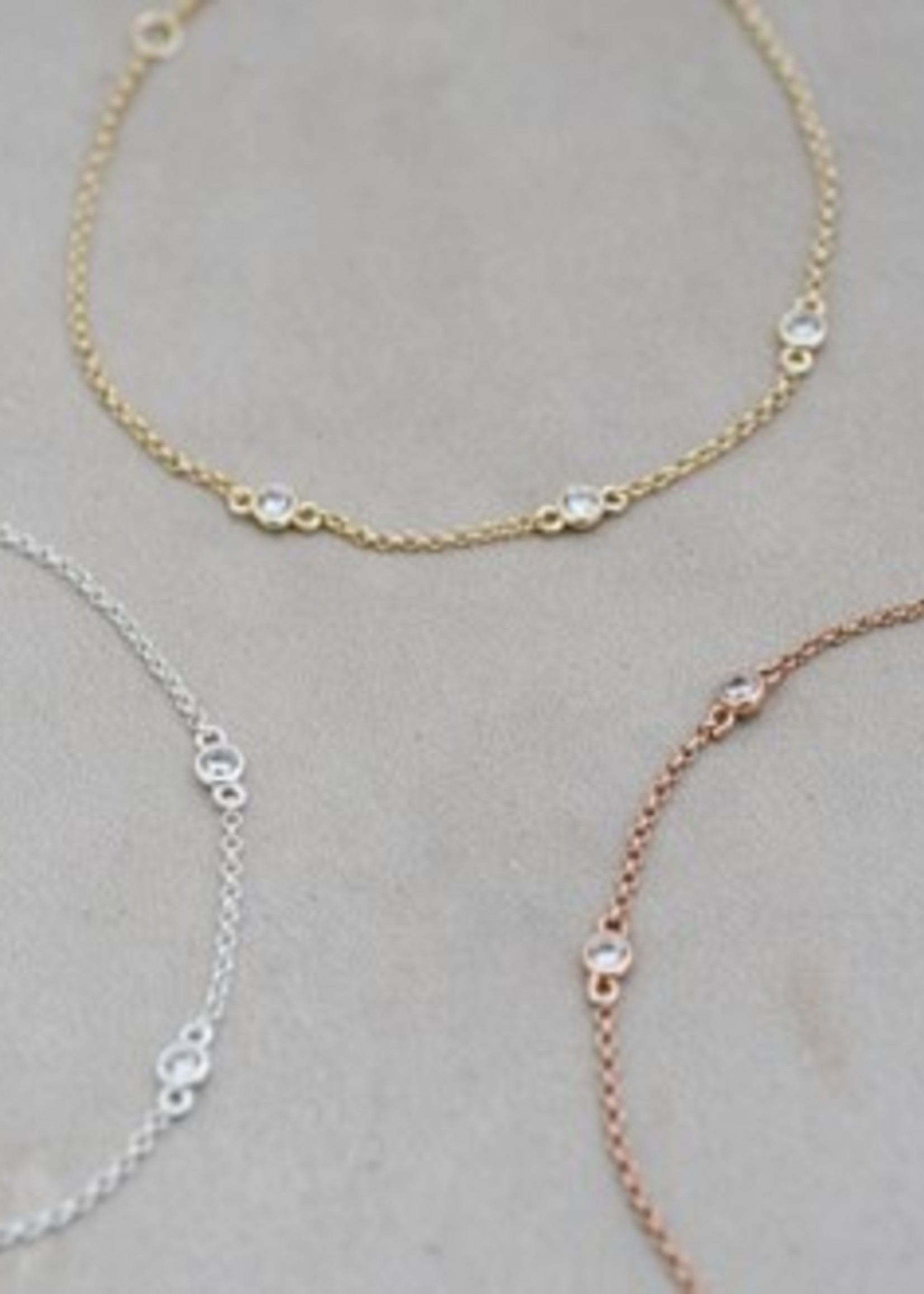 Glee Jewelry Eve Bracelet Clear Rose Gold