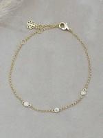 Glee Jewelry Eve Bracelet Clear Gold