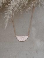 Glee Jewelry Deidra Necklace Rose Gold