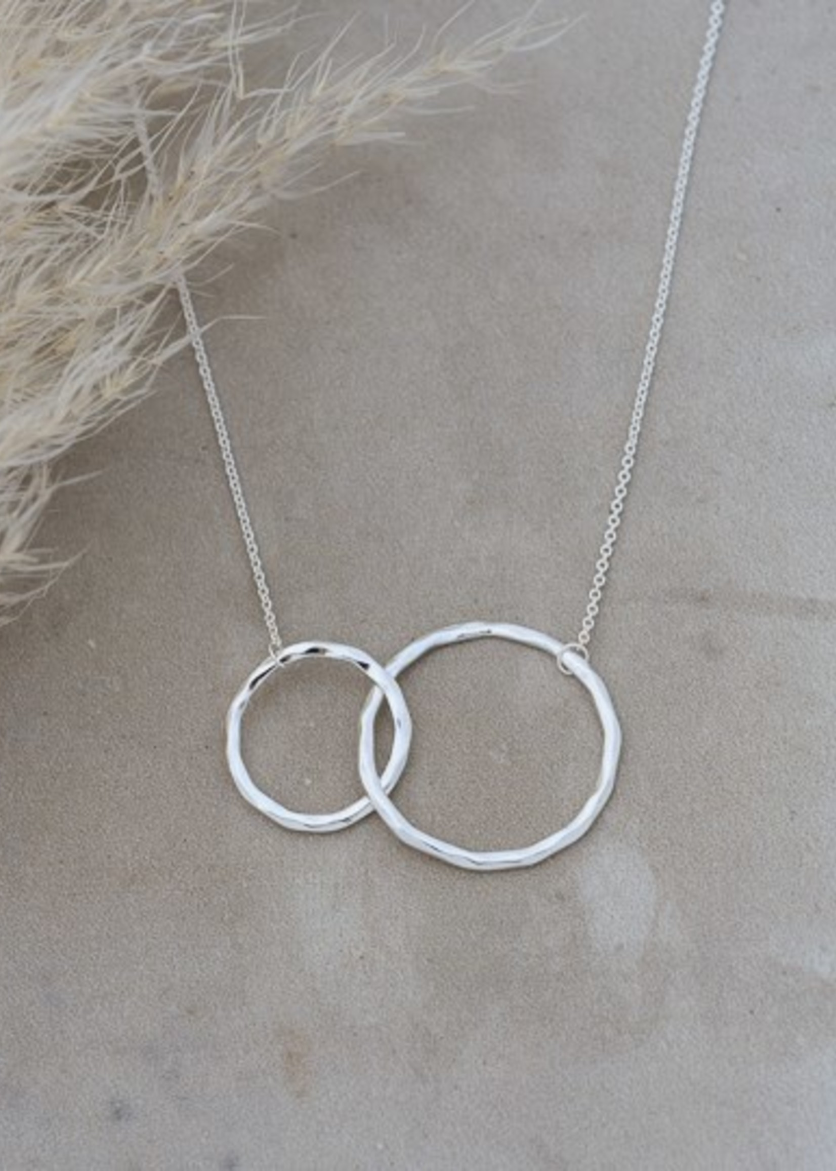 Glee Jewelry Sister Necklace Silver